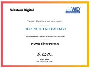 Read more about the article Corent networks ist myWD SILVER Partner!
